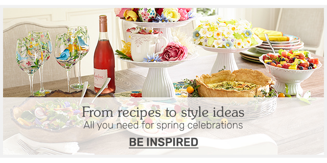 From recipes to style ideas all you need for spring celebrations.