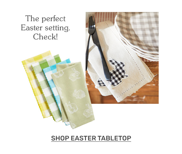 The perfect Easter setting. Check! Shop Easter tabletop.