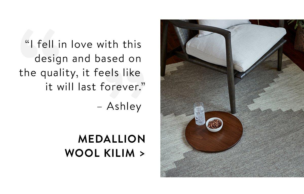 Medallion Wool Kilim