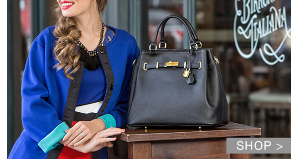 ALL BLACK ITALIAN HANDBAGS