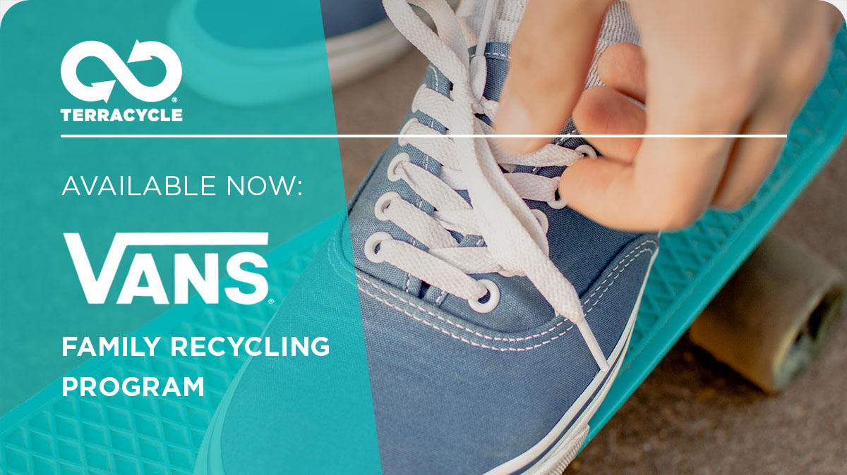 TerraCycle: Available Now: FREE Shoe Recycling at Vans | Milled