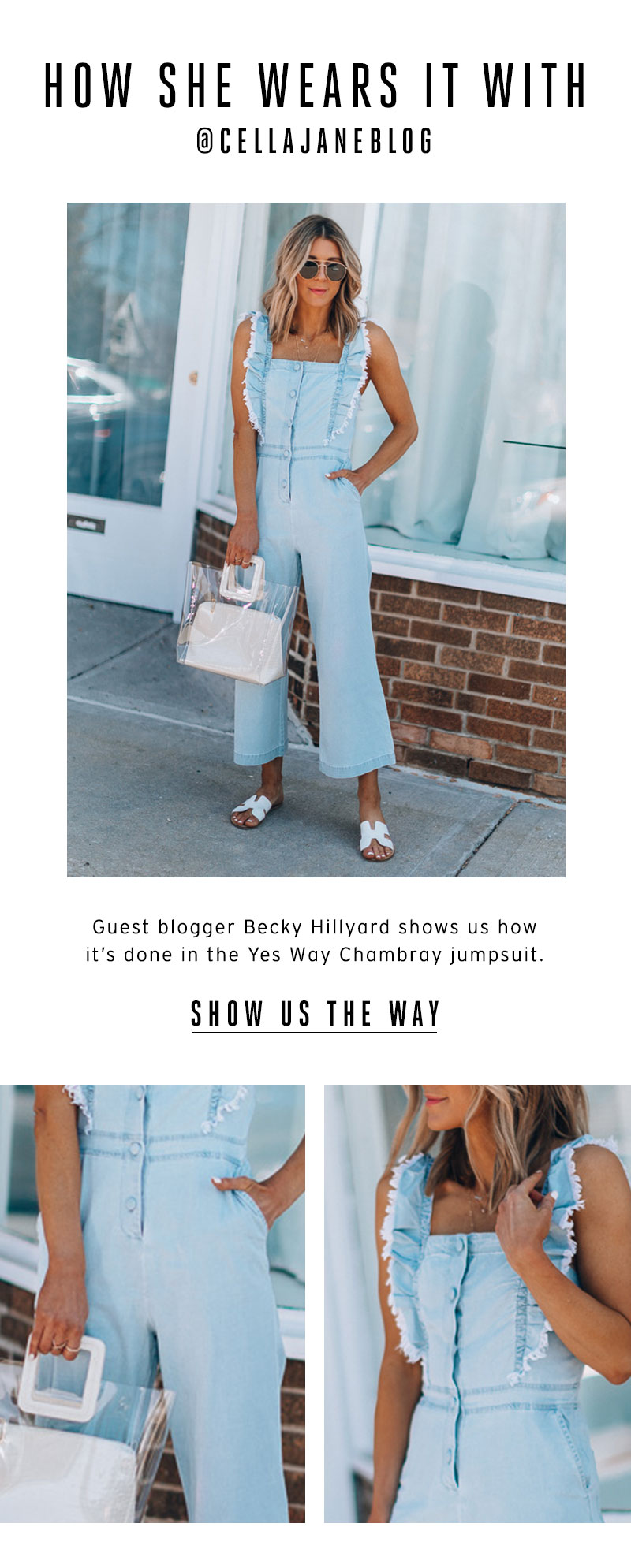 How She Wears it With @CellaJaneBlog. Show us the way.