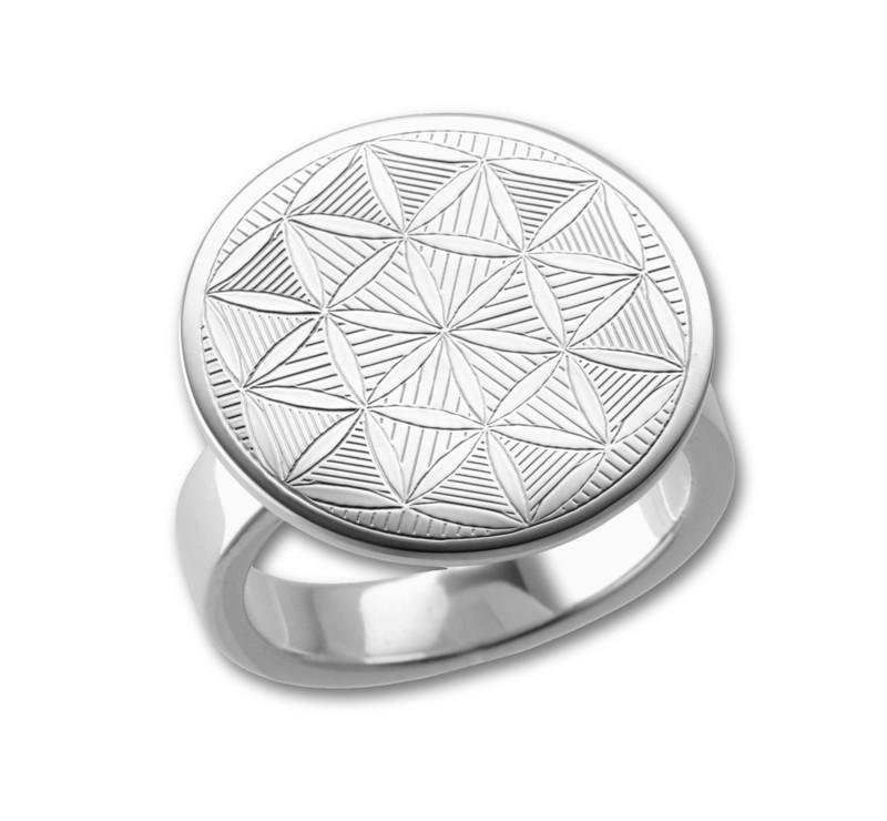Flower of Life Sacred Geometry Ring -  Sterling Silver 925