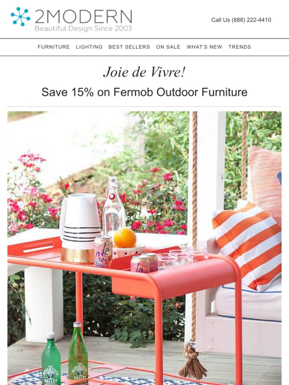 2modern Com Fermob Sale Save 15 On Classic Outdoor Furniture