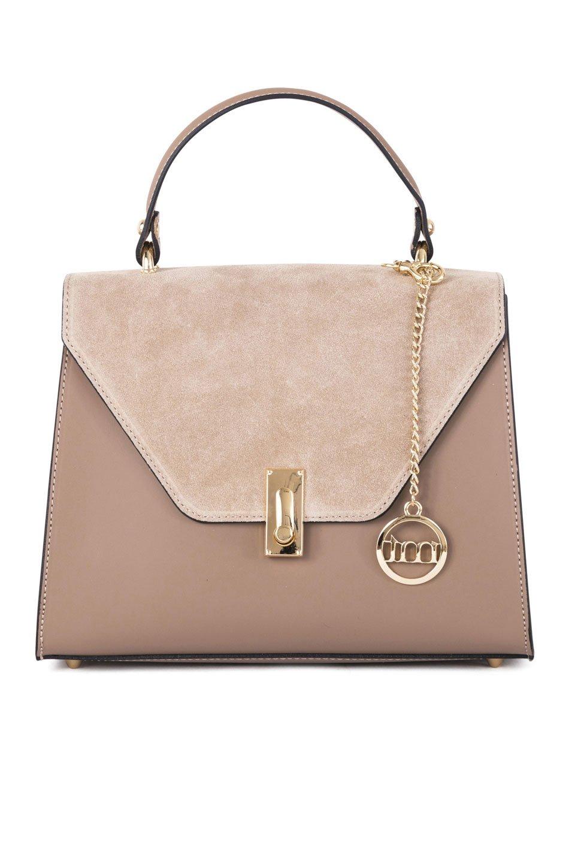 Dominique Handbag in Taupe