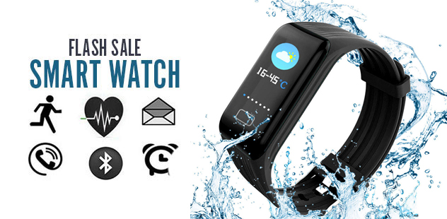 IOS AND ANDROID COMPATIBLE BRACELET IN BLACK