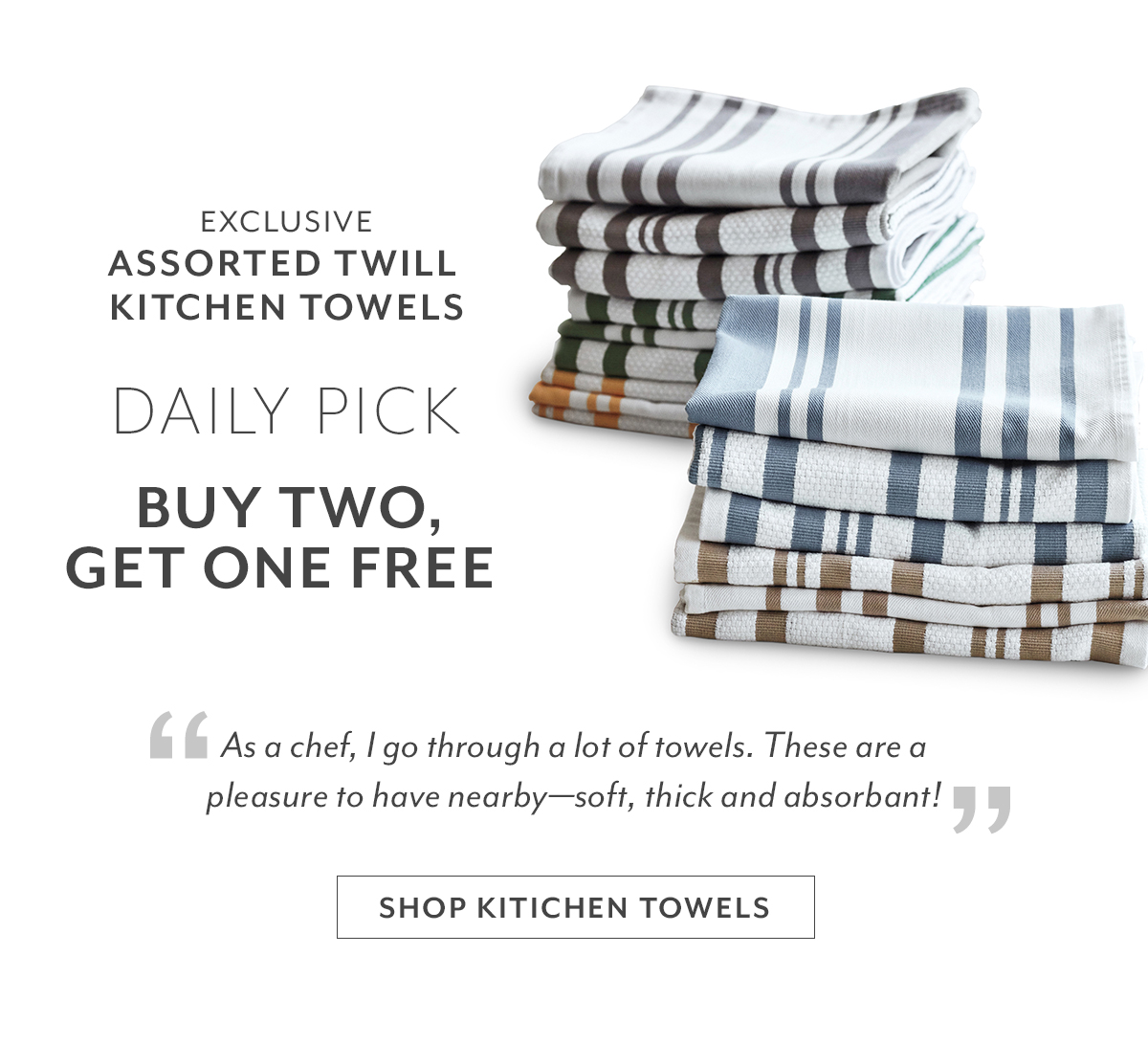 Assorted Twill Kitchen Towels