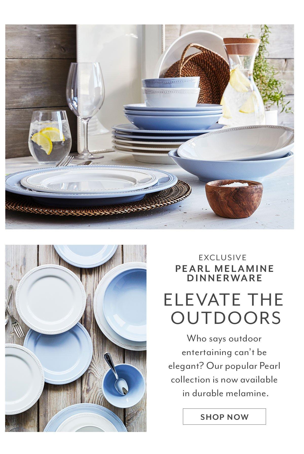 Pearl Melamine Dinnerware