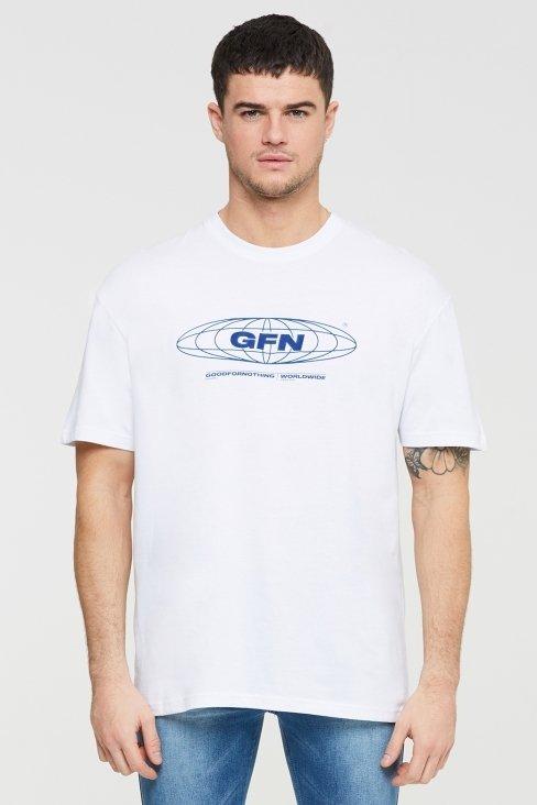 Oversized Global White T-shirt