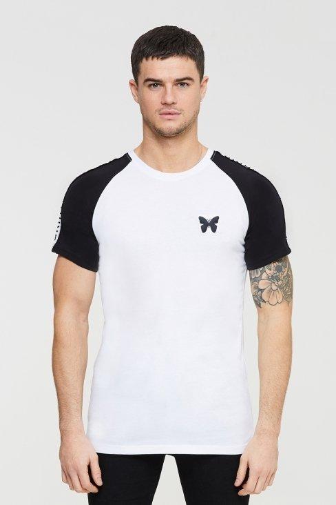 Variance White Raglan T-shirt