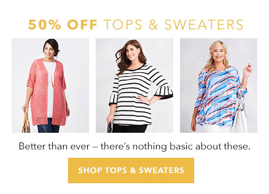 Shop Tops & Sweaters