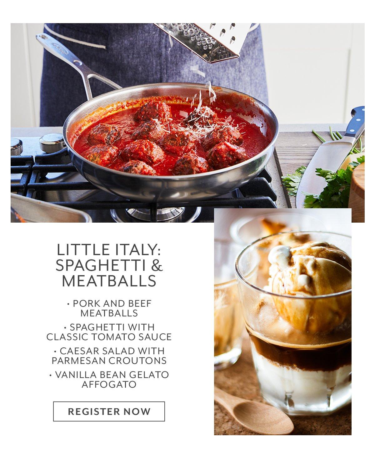 Class: Little Italy • Spaghetti & Meatballs