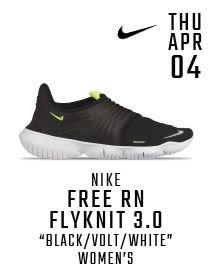 pretty nice 3cb5b 1145a Nike Free RN Flyknit 3.0  Black Volt White  Women s