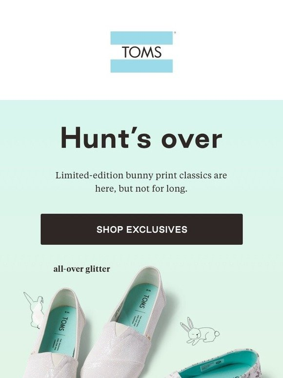 TOMS: Limited edition! Bunny Classics