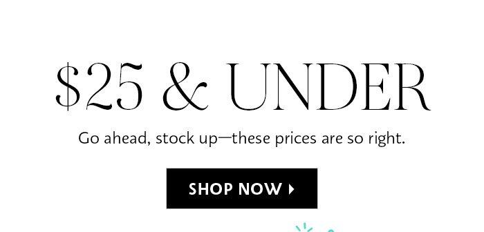 $25 & Under