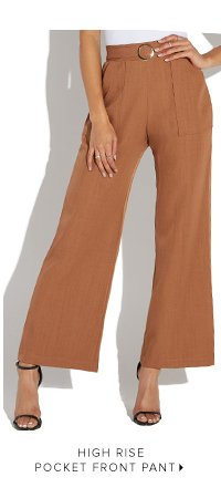 HIGH RISE POCKET FRONT PANT
