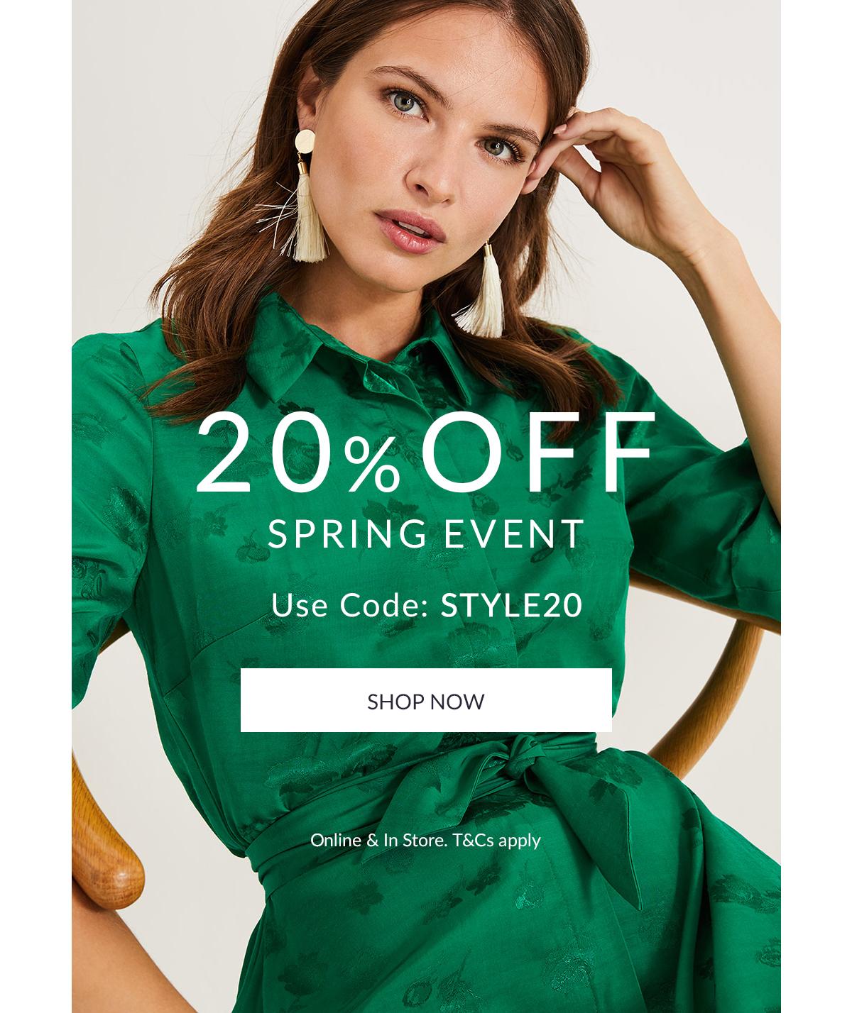 20% Off Spring Event | use code: STYLE20 | Shop Now