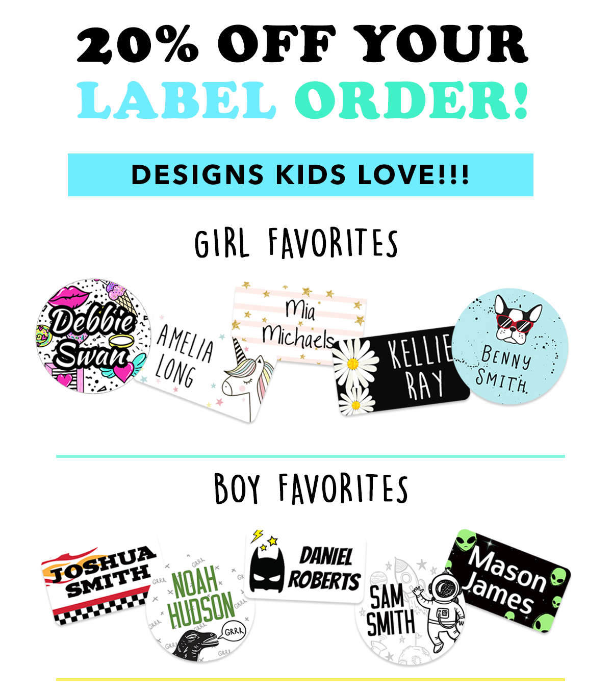 20% off your label order