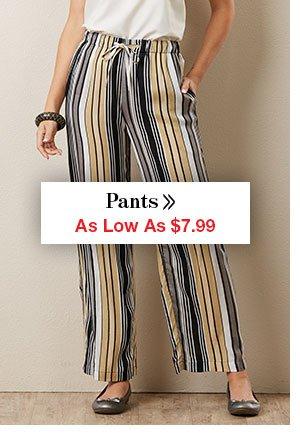 Shop Women's Pants As Low As $7.99