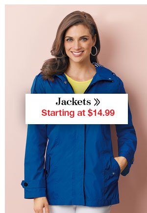 Shop Women's Jackets Starting at $14.99