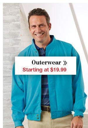 Shop Men's Outerwear Starting at $19.99