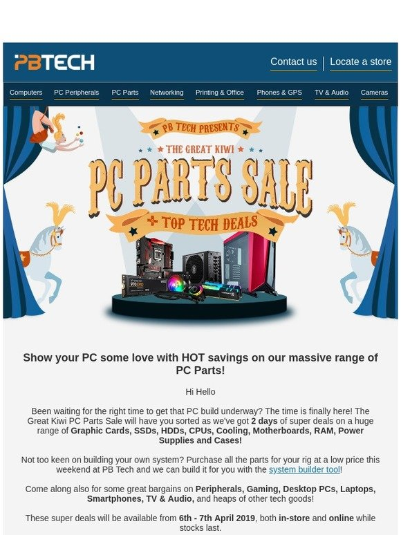 PB Tech: This weekend: The Great Kiwi PC Parts Sale 2019 | Milled