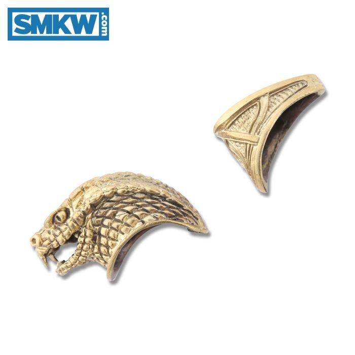 SWAN LAKE KNIVES BRONZE GUARD AND SNAKE HEAD POMMEL SET #23 MODEL 440162B