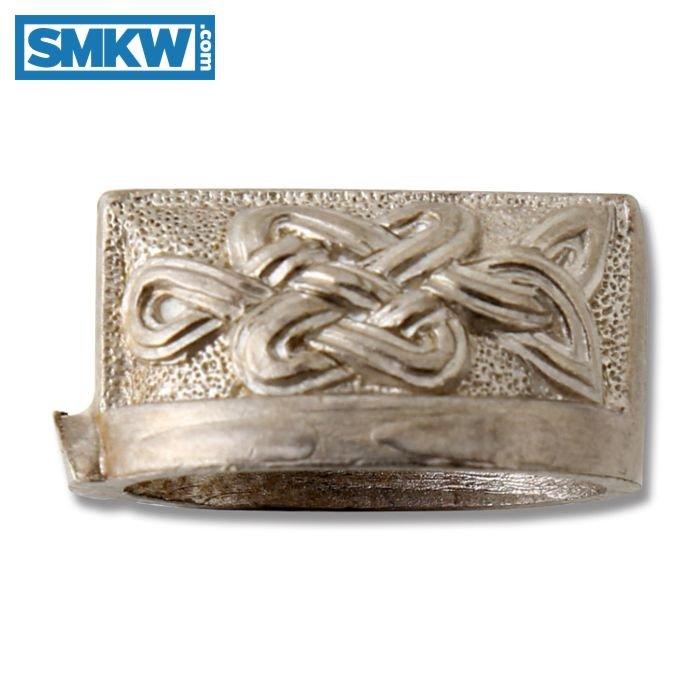 SWAN LAKE KNIVES NICKEL SILVER CELTIC KNOT BOLSTER 27MM MODEL 500614N