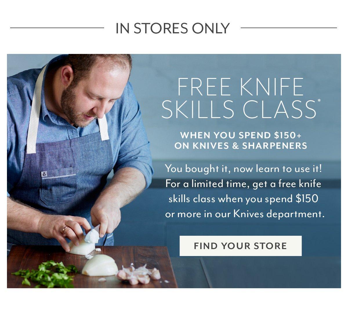 Free Knife Skills Class