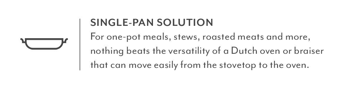 Single-Pan Solution