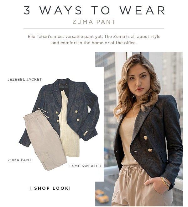 44231a98c4a 3 Ways To Wear - The Zuma Pant - Elie Tahari s most versatile pant yet