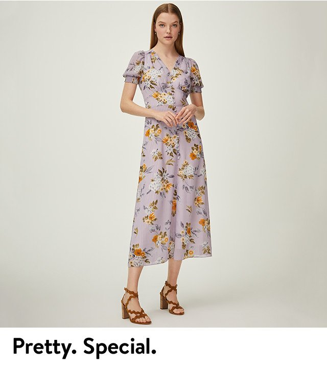 Pretty and special: women's spring occasion clothing.