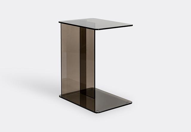 'Lucent' laptop table, bronze