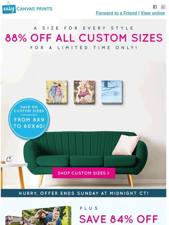Easy Canvas Prints: Claim Up To 88% Off ALL Canvas Prints