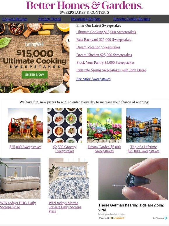 Better Homes And Gardens Enter To Win 15 000 In The Ultimate