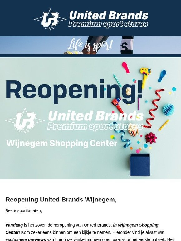4d170198640 Unitedbrands.be: EXCLUSIEVE PREVIEW - Reopening United Brands Wijnegem  Shopping Center! - Klik hier! | Milled