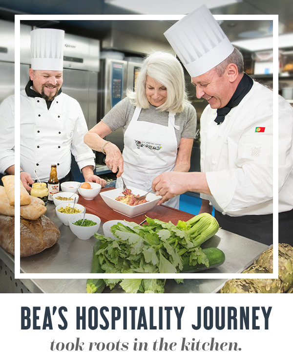 Bea's hospital journey took roots in the kitchen.