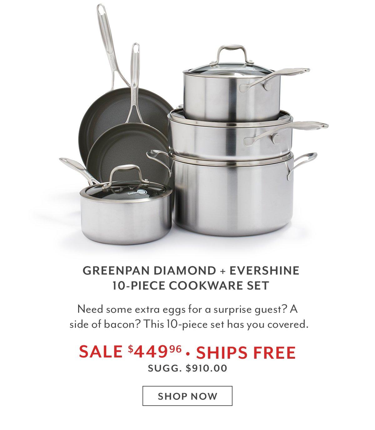 GreenPan Diamond + Evershine 10-PC Cookware Set