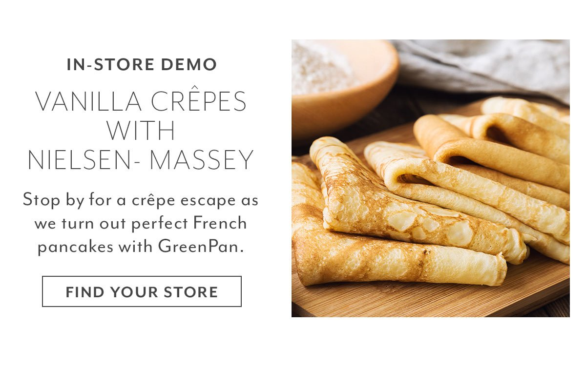 In-Store Demo: Vanilla Crêpes with Nielsen-Massey