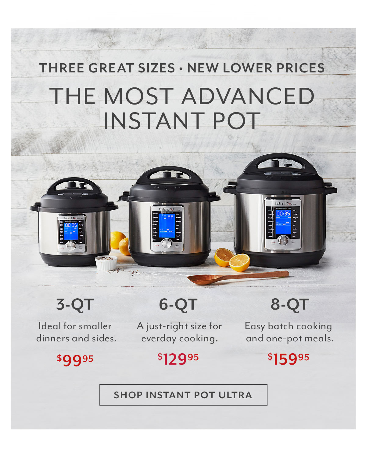 Instant Pot: Three Great Sizes
