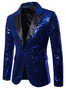 a6d6898b39b13 Ericdress Plain Sequins Notched Lapel Mens Tuxedo Party Blazer Costume