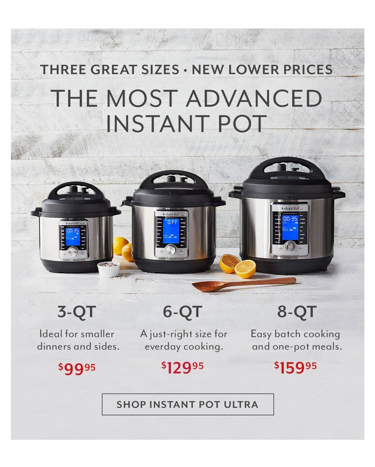 Instant Pot: Three Great Sizes