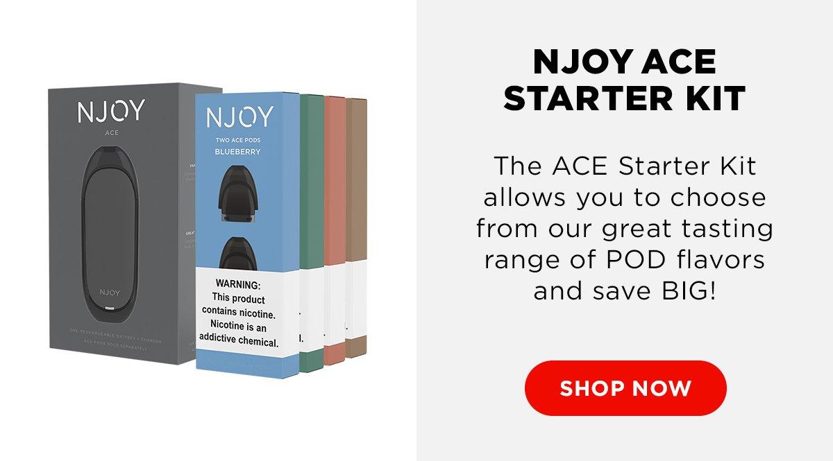 njoy com: FINAL FOUR SPECIAL: Get an NJOY ACE Starter Kit