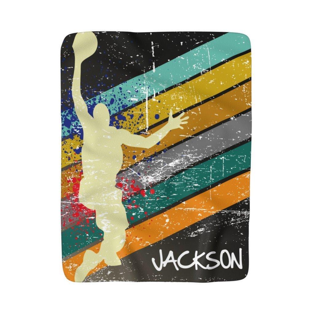 Image of Basketball Fleece Blanket