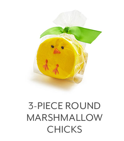 3-PC Round Marshmallow Chicks