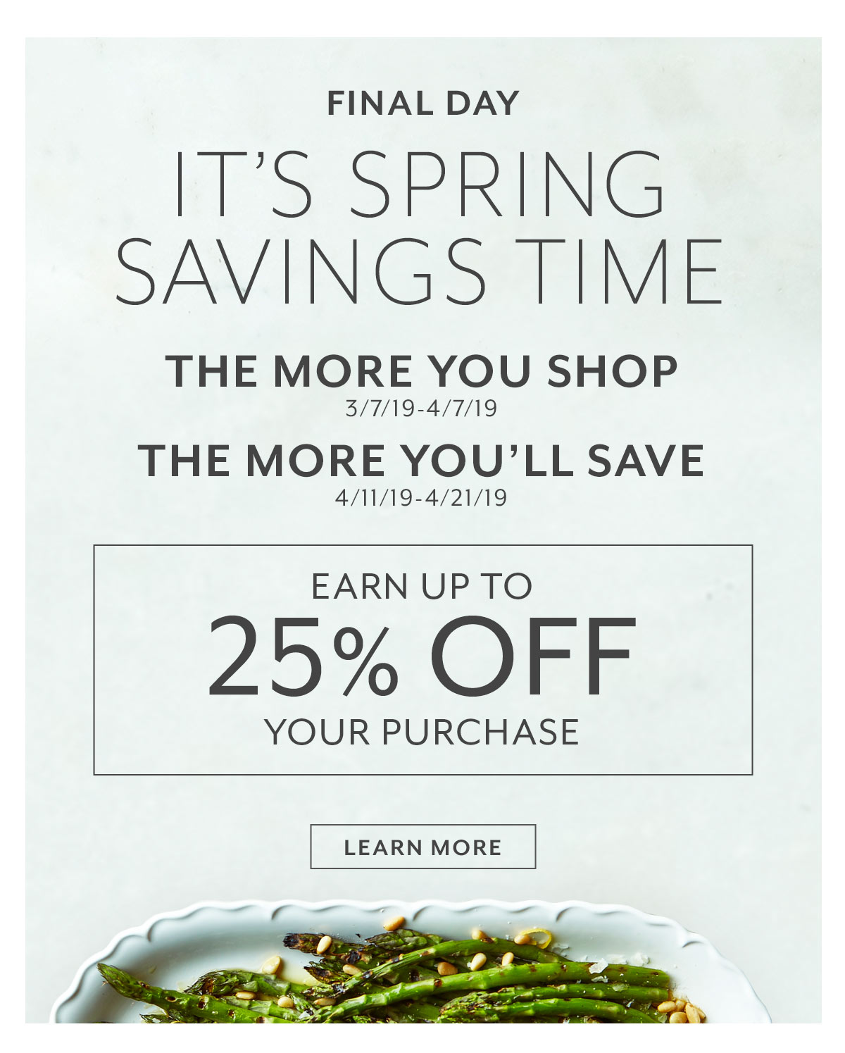 Final Day • It's Spring Savings Time
