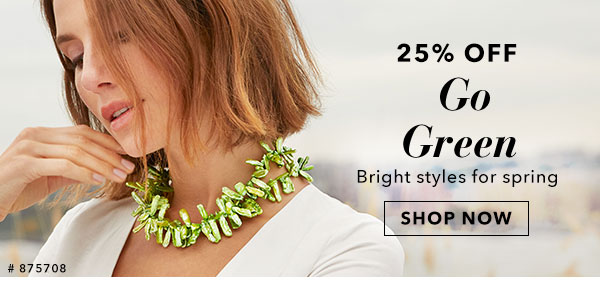 25% Off Go Green