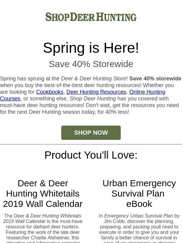 shopdeerhunting com: 🌷 Spring Into 40% Off Storewide | Milled