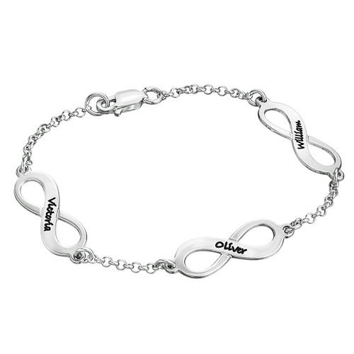 Mehrfach Infinity-Armband aus Silber