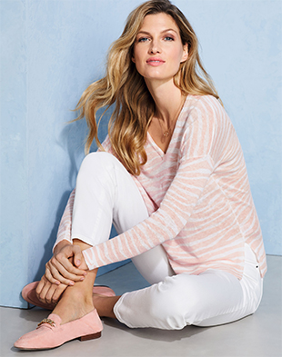 Linen V-Neck Sweater